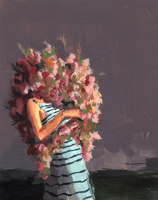 Grew Into  original acrylic painting on by tastesorangey on Etsy