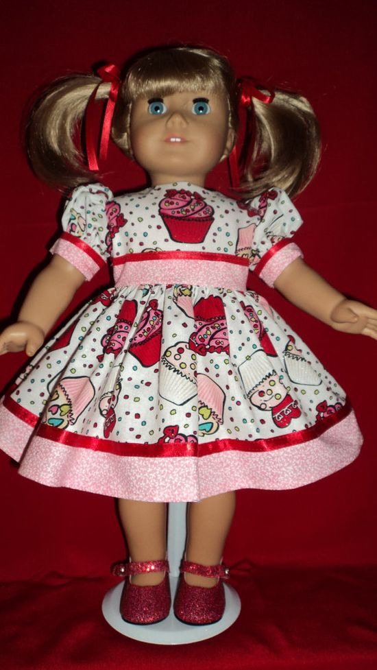 American Girl Doll Clothes  Valentine Cupcake by susiestitchit, $18.50