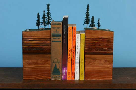 BookEnds of the Earth Conifer Forest by GarthBorovickaDesign, $165.00  Awesome idea but the cost is way to much.