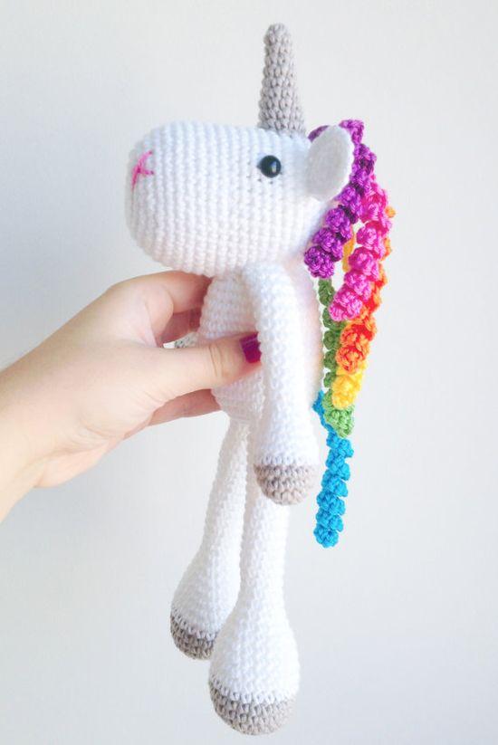 Unicorn Crochet Plushie by MarigurumiShop on Etsy, €30.00