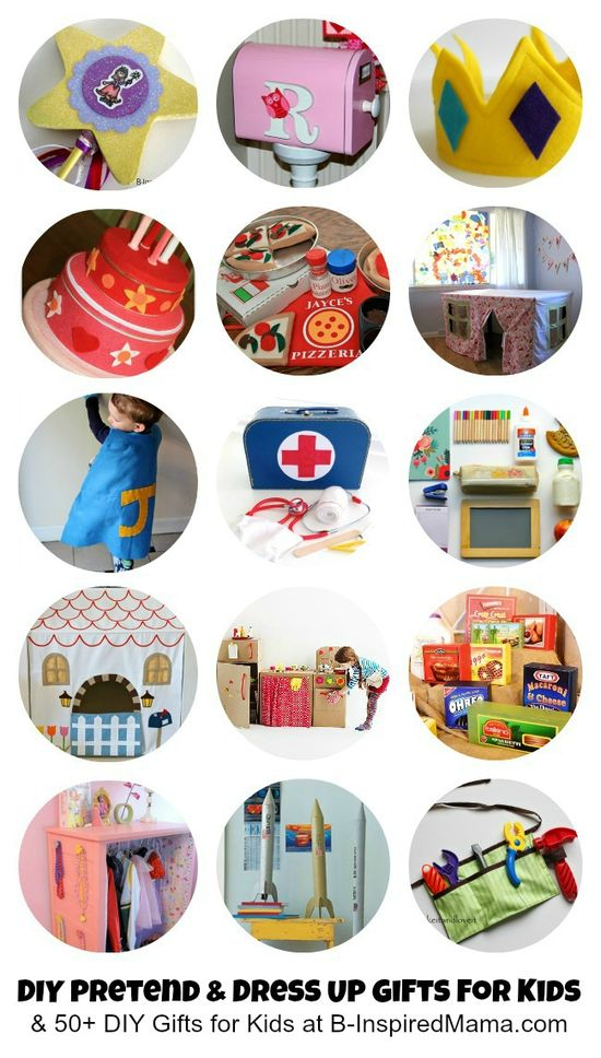 Pretend and Dress Up Gifts to Make for Kids  plus 50+ MORE DIY Gifts for Kids at B-InspiredMama.com