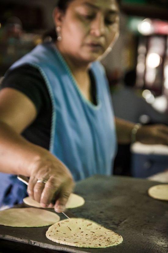 Handmade tortillas for lunch