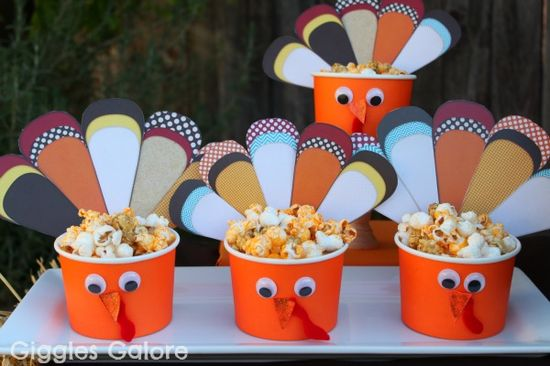 Turkey Treat Cups Giggles Galore