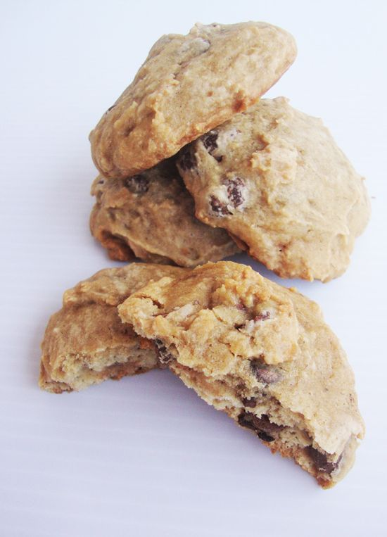 Banana Chocolate Chip Cookies by justthelen #Cookies #Banana_Chocolate_Chip