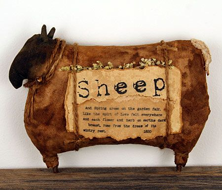 primitive cupboard sheep
