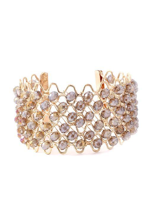 Black Diamond Crystal Cuff