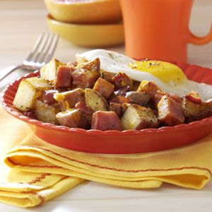 Loaded Breakfast Potatoes Recipe from Taste of Home :: shared by Tena Kropp of Aurora, Illinois :: pinterest.com/...