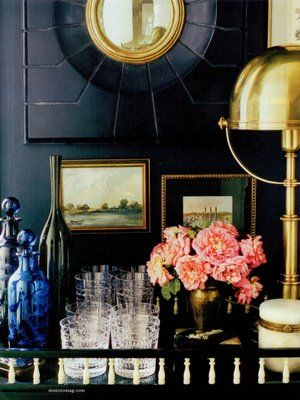 Jenna Lyon's house was dark and moody + gold + pink waaay before the rest of the world was!