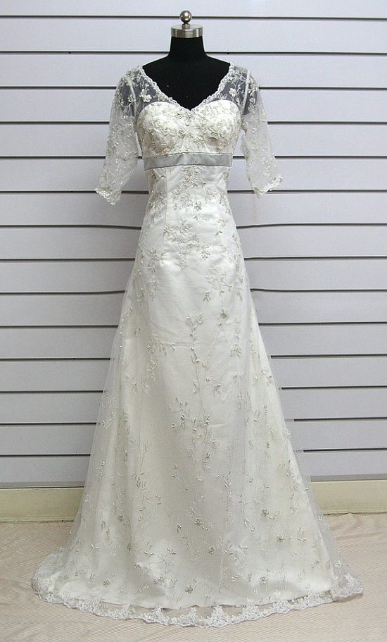 Custom make Vintage A LINE Short Sleeve Lace Wedding Dress Bridal Gown Bridesmaid Dress Evening Prom Dress$208.00