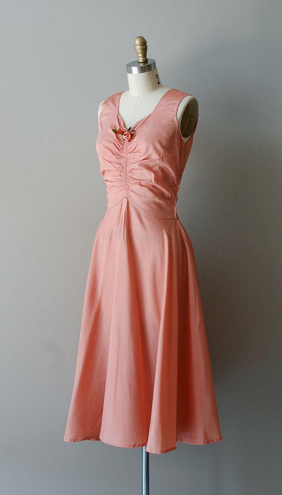 vintage 1930s Beautiful Dreamer dress    #1930s #vintage #vintagedress