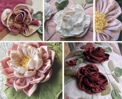 Different handmade flowers
