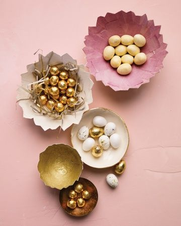 Cracked Paper Eggshell Dishes
