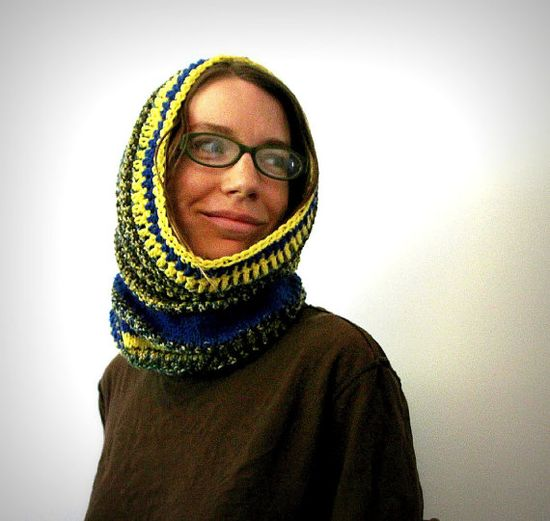 Knit cowl snood circle scarf snood scarf wool by FruitofPhalanges, $40.00