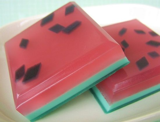 Make for the treat bags! Watermelon soap.