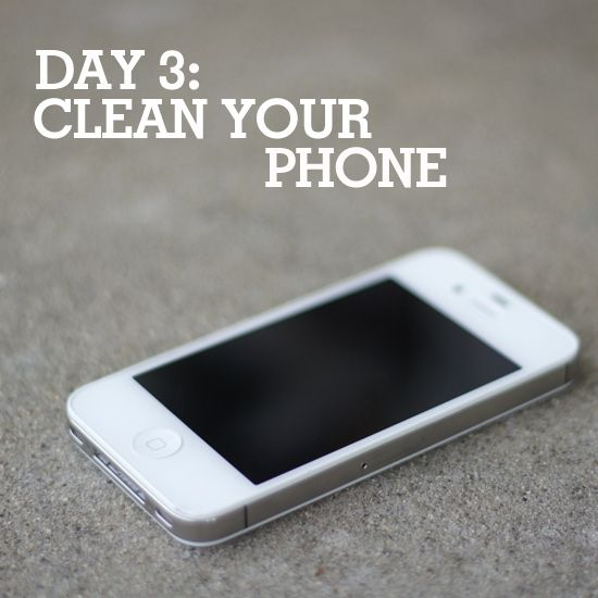 Time to clean your cell phone!