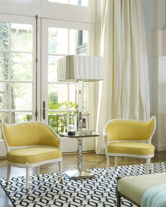 Yellow + white and pattern design by Jan Showers