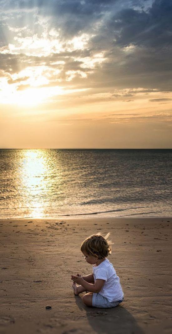Beach Boy at Sunset