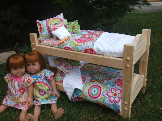 Doll BunkBed Stackable for 18 inch American Girl Doll  by sashali, $99.99