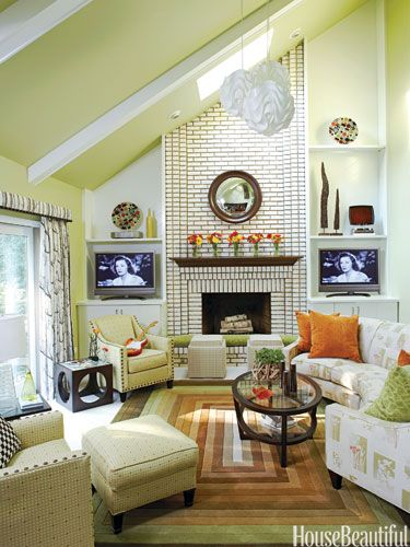 Kitchen, Bathroom, and Dining Room Makeovers Before and After - Room Makeover Pictures-AFTER- fireplace