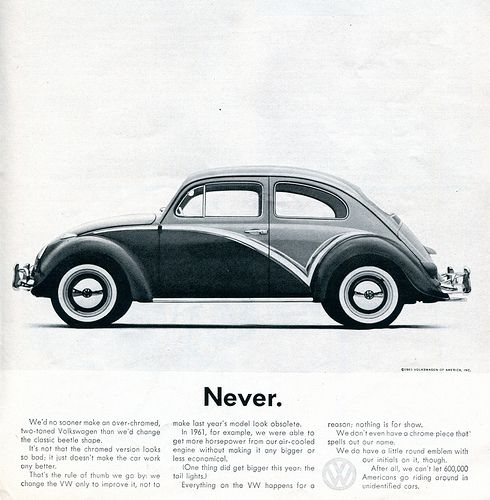 1961 Volkswagen Advertising Car and Driver Magazine November 1961