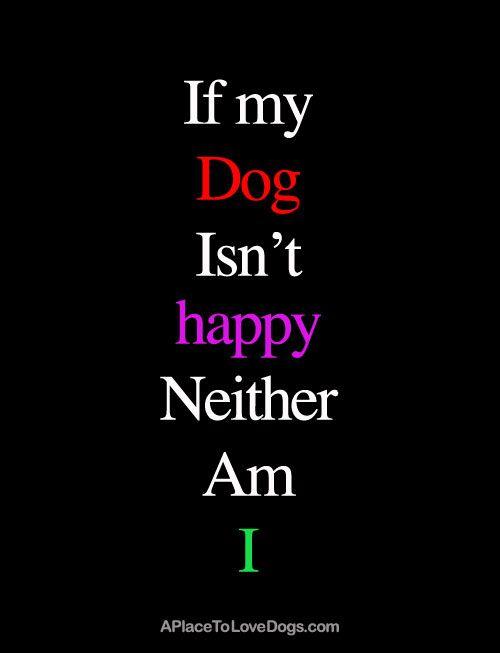 If My Dog Isn't Happy