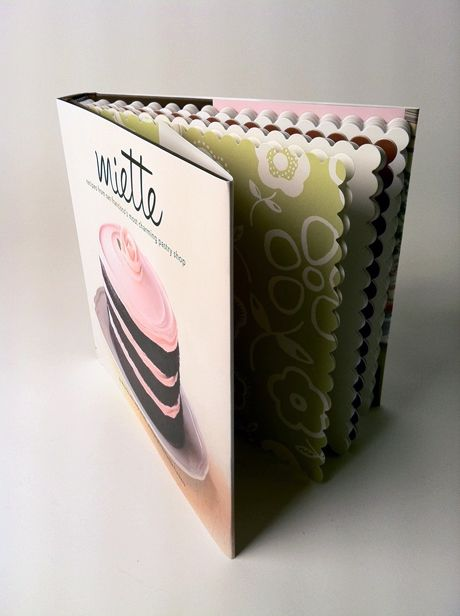 Miette, by Meg Ray - beautiful book with scalloped pages, love the classic, simplistic cake decorating her bakery uses