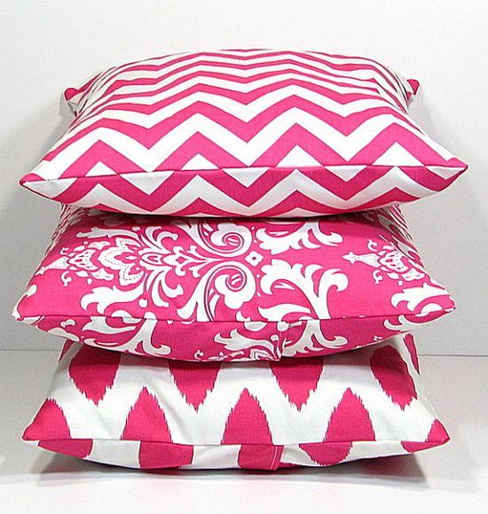Hot PINK Pillows Decorative Pillows