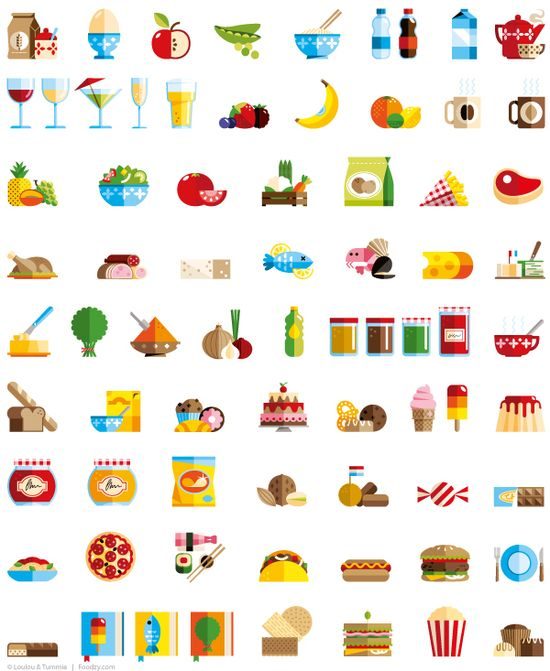 icons for Foodzy.com