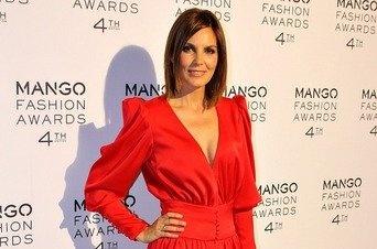 Mar Flores con un mono rojo en la gala de los Mango Fashion Week