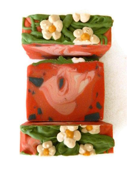 Artisan Soap / Handmade Cold Process Soap / Strawberry Soap for children Eco Friendly