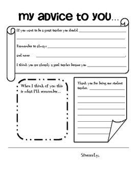 Student Teacher gift book