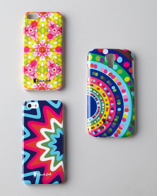 French Bull artsy and colorful iPhone covers