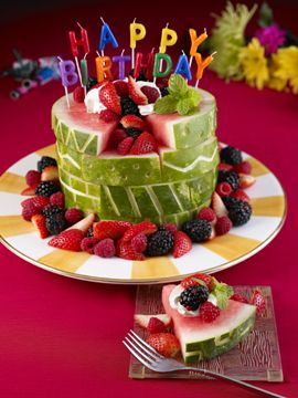 fruit birthday cake!
