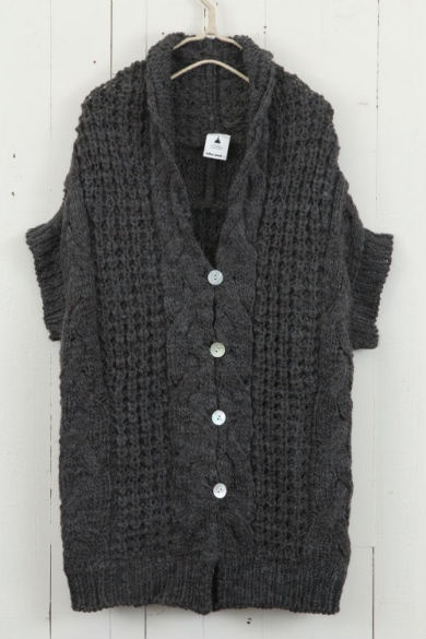 chunky cable knit cardigan ++ niko and...