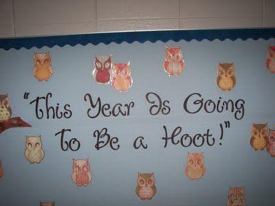 Owl bulletin board ideas.