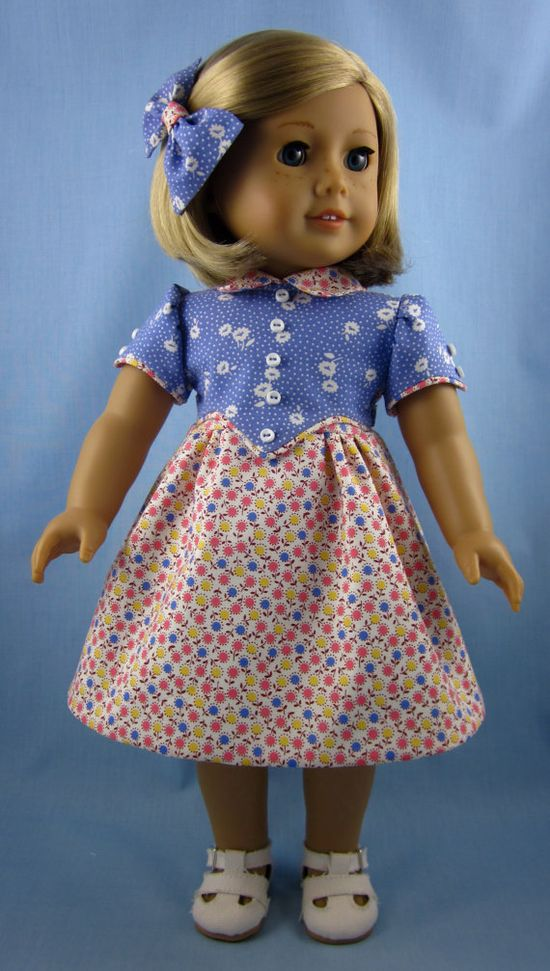1930s Frock for American Girl Dolls  Kit or by SewMyGoodnessShop, $25.00