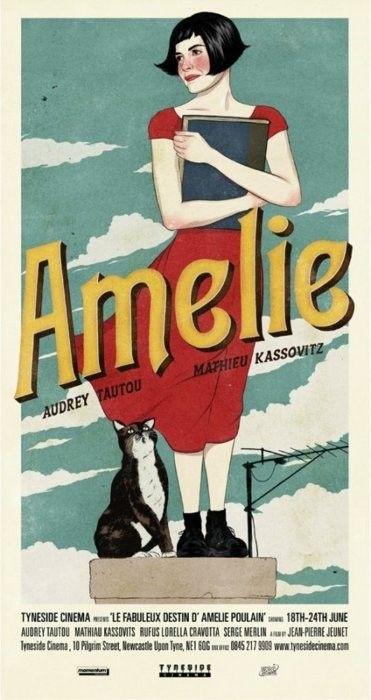 amélie poulain vintage looking film poster