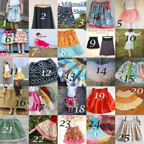 25 of the cutest girls skirt tutorials rounded up for you sewing pleasure!!!