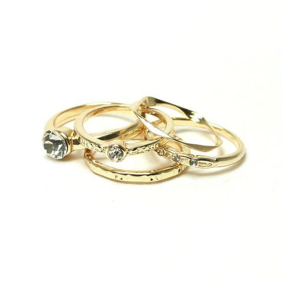 gold stacking rings by laonato on etsy