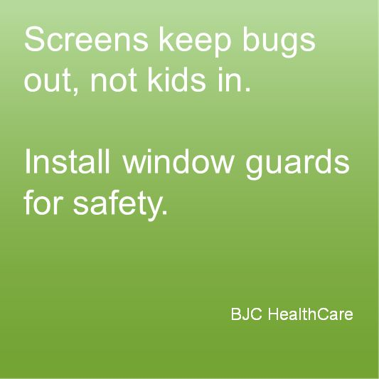Health tip from www.bjc.org    #healthykids #safety