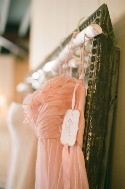 personalized tags for the bridesmaid dresses