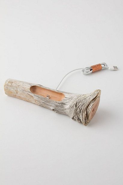driftwood iphone 5 dock