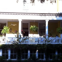 The best front porches are found in the South, perfect for tea, lunch and a good book! This is the Forsyth Park Inn's amazing porch! JULIE