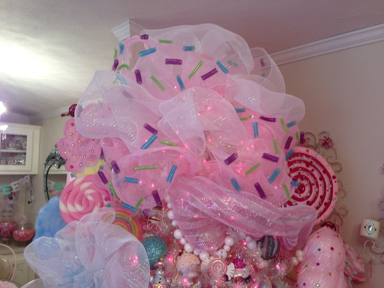 Pink candy candyland Christmas tree