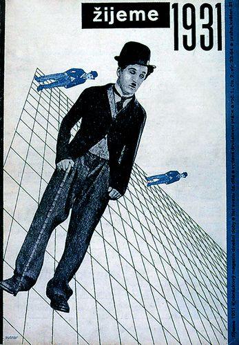History of Visual Communications - New Typography - Zijeme Cover Art by Ladislav Sutnar 1931