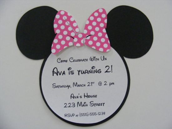 Minnie Mouse Invitations Birthday Party