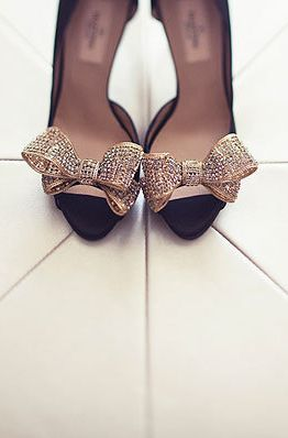 Gold Valentino bow