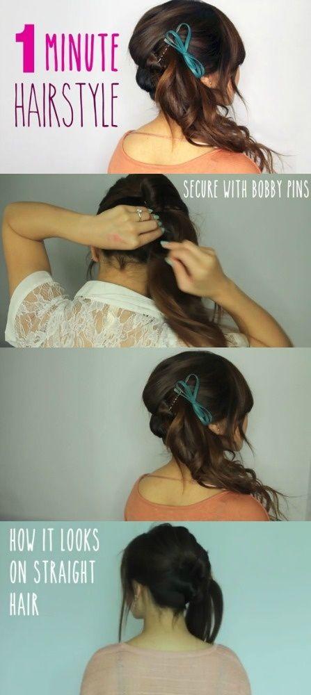 DIY 1 Minute Hair Style diy easy diy diy beauty diy hair diy fashion beauty diy diy style diy hair style