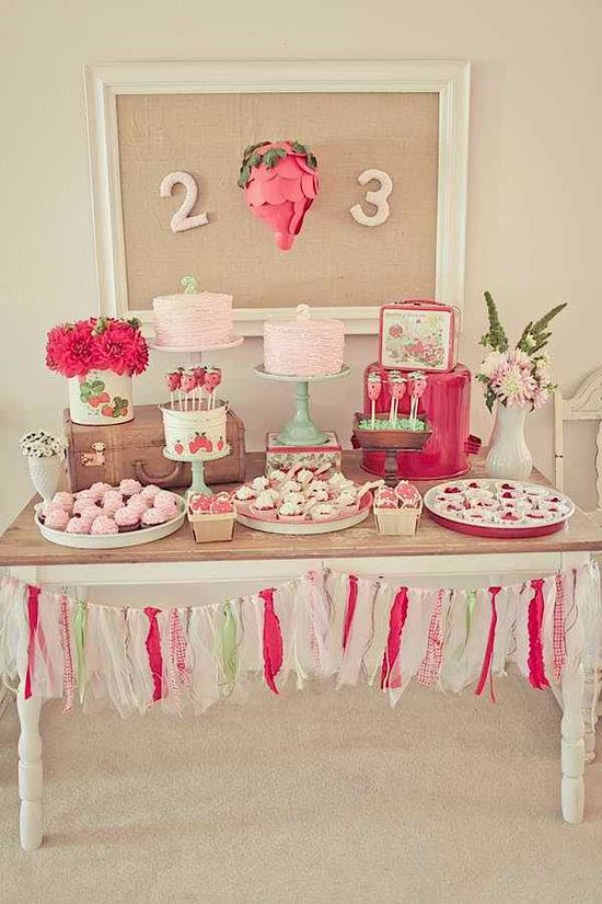 THE SWEETEST birthday party FULL of cute diy ideas! Kara's Party Ideas KarasPartyIdeas.com #strawberry #party #ideas #shortcake #supplies #shop