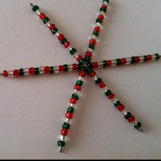 Beaded Christmas decorations